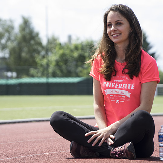 T-shirt femme rose sport