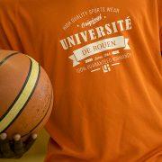 T-shirt homme orange sport – Université de Rouen Normandie