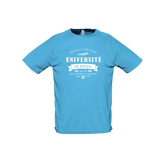 T-shirt bleu gamme sport