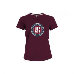 T-shirt bordeaux gamme institutionnelle