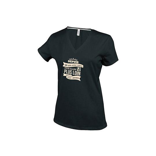 T-shirt noir gamme 50 ans