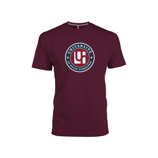 T-shirt bordeaux gamme institutionnelle