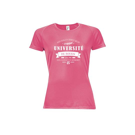 T-shirt rose gamme sport