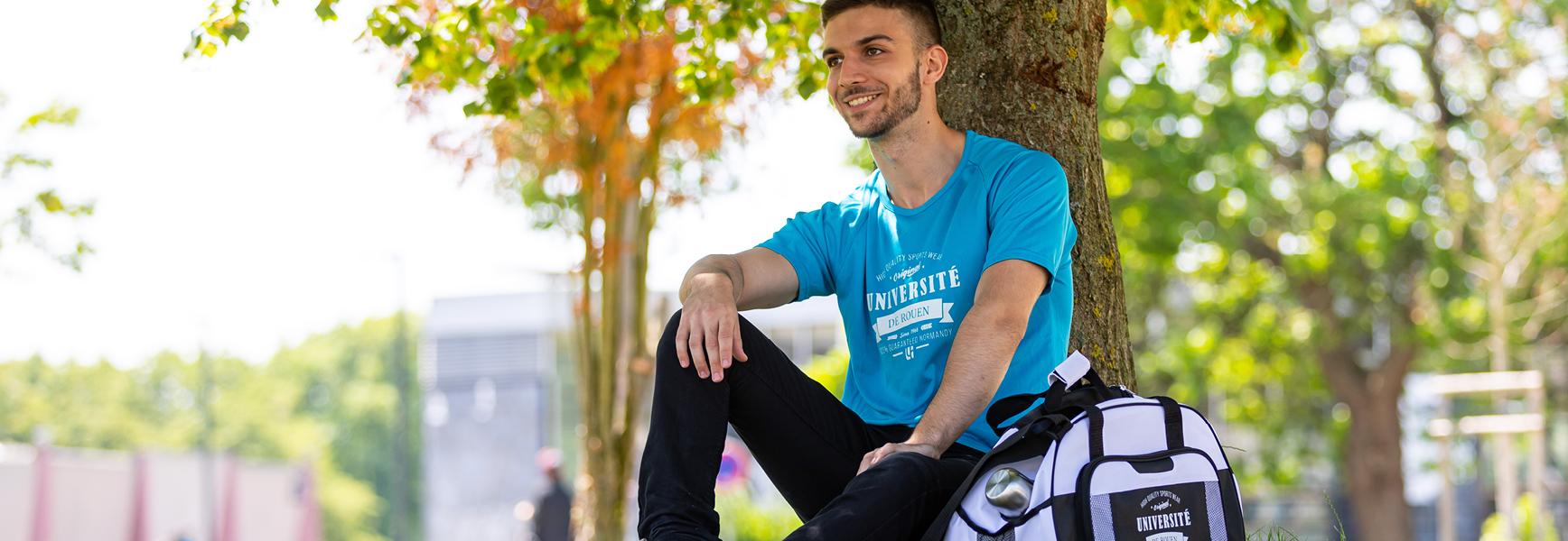 TShirt bleu – Sac sport